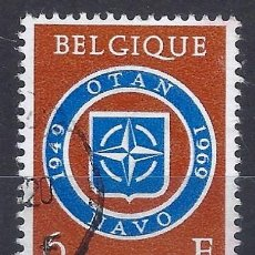 Sellos: BÉLGICA 1959 - 20º ANIVERSARIO DE LA OTAN - SELLO USADO. Lote 198674437