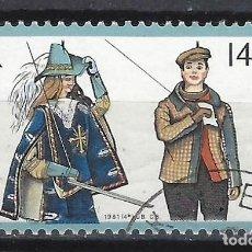 Sellos: BÉLGICA 1981 - EUROPA - SELLO USADO. Lote 198677101