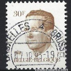 Sellos: BÉLGICA 1984 - REY BALDUINO - SELLO USADO . Lote 198678982