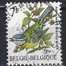Sellos: BÉLGICA 1987 - PÁJAROS - SELLO USADO. Lote 198681243