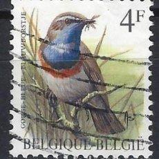 Sellos: BÉLGICA 1989 - PÁJAROS - SELLO USADO. Lote 198681416