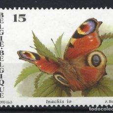 Sellos: BÉLGICA 1993 - MARIPOSAS - SELLO SIN GOMA. Lote 198682943