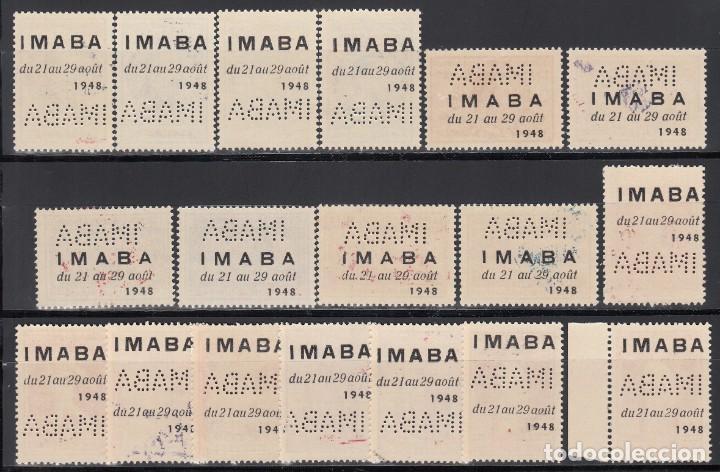 Sellos: BELGICA, AÉREO 1965 YVERT Nº 15 / 23A /**/, Exposición Filatélica, IMABA. - Foto 2 - 198759150