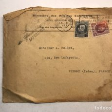 Sellos: SOBRE CIRCULADO. BÉLGICA - VIENNE (FRANCIA) (H.1922?). Lote 199242331