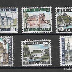 Sellos: TURISMO: CASTILLOS Y VISTAS. BÉLGICA. . Lote 199244798