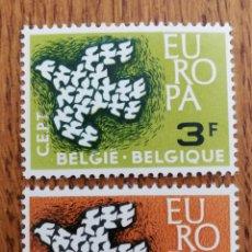 Sellos: BELGICA TEMA EUROPA 1959 MNH (FOTOGRAFÍA REAL). Lote 243327965