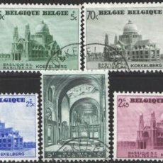 Timbres: BELGICA, 1938 YVERT Nº 471 / 477, IGLESIA DE KOEKELBERG. Lote 199666127
