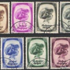 Timbres: BELGICA, 1938 YVERT Nº 488, 489, 490, 491, 493, 494, 495, PRINCIPE ALBERTO . Lote 199666510