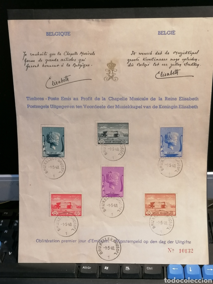 Sellos: Bélgica Yvert 532/537 firmado Reina Bélgica - Foto 2 - 199885900