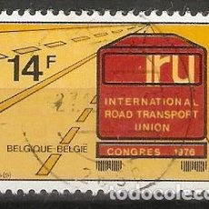 Timbres: BÉLGICA.1976. YT 1802. TRANSPORTE. Lote 201738883