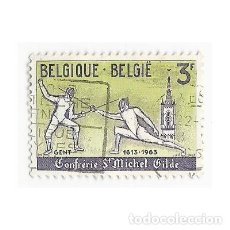Sellos: SELLO BÉLGICA 1613 1963 CONFRÉRIE ST MICHEL GILDE GENT 3 F. Lote 203427357