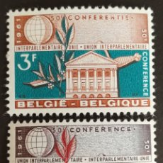 Sellos: BELGICA N°1191/92 MNH, UNIÓN INTERPARLAMENTARIA 1961. Lote 243331955