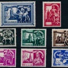 Sellos: BELGICA 1943 IVERT 631/8 *** AUXILIO DE INVIERNO - ICONOGRAFÍA DE SAN MARTIN (3). Lote 204789631