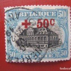 Sellos: +BELGICA 1918, SELLO SOBRECARGADO YVERT 159. Lote 207183480