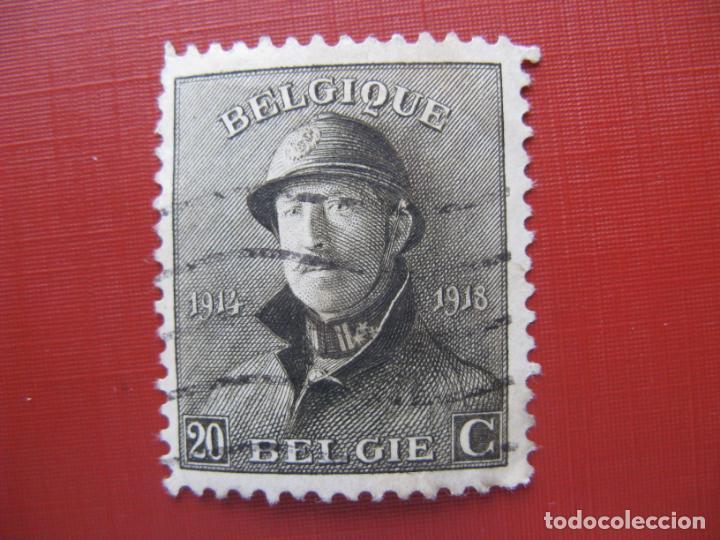 +BELGICA 1919, ALBERTO I, YVERT 170 (Sellos - Extranjero - Europa - Bélgica)