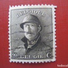 Sellos: +BELGICA 1919, ALBERTO I, YVERT 170. Lote 207184891
