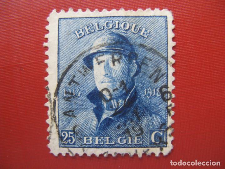 +BELGICA 1919,ALBERTO I, YVERT 171 (Sellos - Extranjero - Europa - Bélgica)