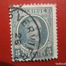 Sellos: +BELGICA 1921, ALBERTO I, YVERT 193. Lote 207265048