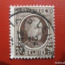Sellos: +BELGICA 1921, ALBERTO I, YVERT 196. Lote 207265892
