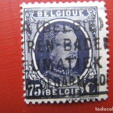 Sellos: +BELGICA 1921, ALBERTO I, YVERT 204. Lote 207266770
