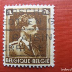 Sellos: +BELGICA 1936, LEOPOLDO III, YVERT 427. Lote 207369130