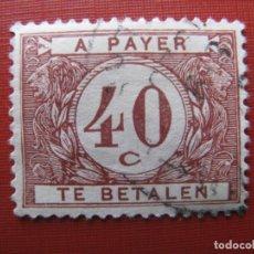 Timbres: +BELGICA 1922, SELLO DE TASA YVERT 37. Lote 207598592