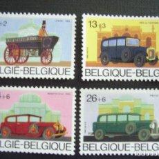 Sellos: BELGICA Nº YVERT 2232/5** AÑO 1986. AUTOMOVILES ANTIGUOS DE MARCAS BELGAS. CON CHARNELA. Lote 208430192