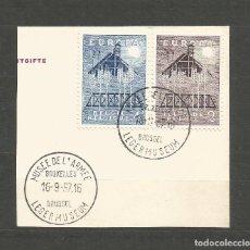 """Sellos: BÉLGICA AÑO 1957 - SERIE Nº 1025/1026 """"EUROPA"""" USADA. CATÁLOGO YVERT. Lote 208785798"""