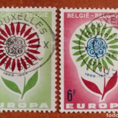 Sellos: BELGICA, EUROPA CEPT 1964 USADOS (FOTOGRAFÍA REAL). Lote 212406368