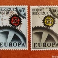 Sellos: BELGICA, EUROPA CEPT 1967 USADA (FOTOGRAFÍA REAL). Lote 212582128