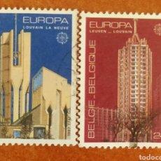 Sellos: BELGICA, EUROPA CEPT 1987 USADA (FOTOGRAFÍA REAL). Lote 213713090