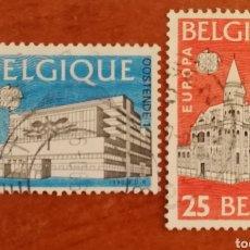 Sellos: BELGICA, EUROPA CEPT 1990 USADO (FOTOGRAFÍA REAL). Lote 213728272
