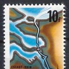 Sellos: BÉLGICA 1975 - CANAL SCHELDE-RHEINE - MH*. Lote 214784725