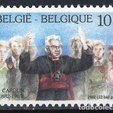 Sellos: BÉLGICA 1982 - CENTENARIO DEL NACIMIENTO DEL CARDENAL CARDIJN - MH*. Lote 214807948