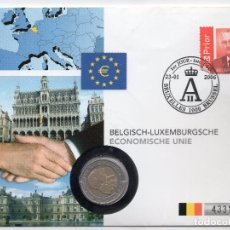 Sellos: BELGICA NUMISBRIEF 2006 MICHEL 3528 + BE 240. Lote 215037523
