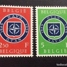 Sellos: BELGICA Nº YVERT 1094/5*** AÑO 1959. 10º ANIVERSARIO DE LA OTAN. Lote 219027616