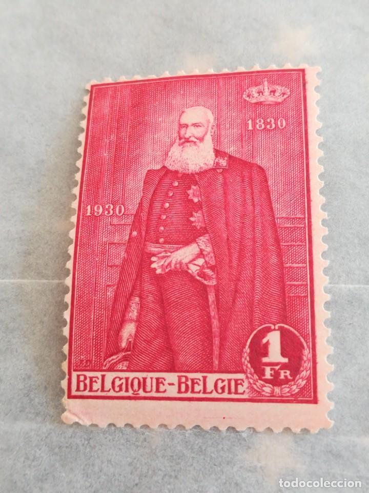 SELLO BÉLGICA 1 FRANC 1930 CON GOMA (Sellos - Extranjero - Europa - Bélgica)