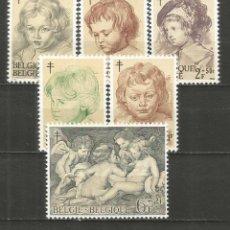 Francobolli: BELGICA YVERT NUM. 1272/1277 * SERIE COMPLETA CON FIJASELLOS. Lote 254181015