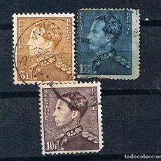 Francobolli: BELGICA 1936 REY LEOPOLDO III TYPE POORTMAN - TRES SELLOS ANTIGUOS CLASICOS JEFES DE ESTADO. Lote 209382412