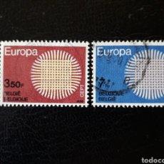 Timbres: BÉLGICA YVERT 1520/1 SERIE COMPLETA USADA 1970 EUROPA CEPT.. Lote 224692812