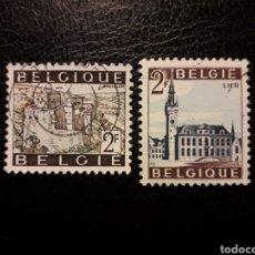 Timbres: BÉLGICA YVERT 1397/8 SERIE COMPLETA USADA 1966. TURISMO. ARQUITECTURA. PEDIDO MÍNIMO 3 EUROS. Lote 225694645