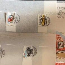 Sellos: O) 1996 BÉLGICA, CARRERAS DE AUTOMÓVILES EN SPA, FDB Y SELLOS CTO. Lote 226377601