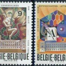 Timbres: BELGICA 1988 IVERT 2296/7 *** 50º ANIVERSARIO DE LA ACADEMIA REAL DE LA LENGUA Y CULTURA FLAMENCA. Lote 227054490