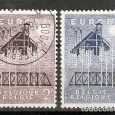 Sellos: BÉLGICA.1957. YT 1025,1026. EUROPA. Lote 228303695