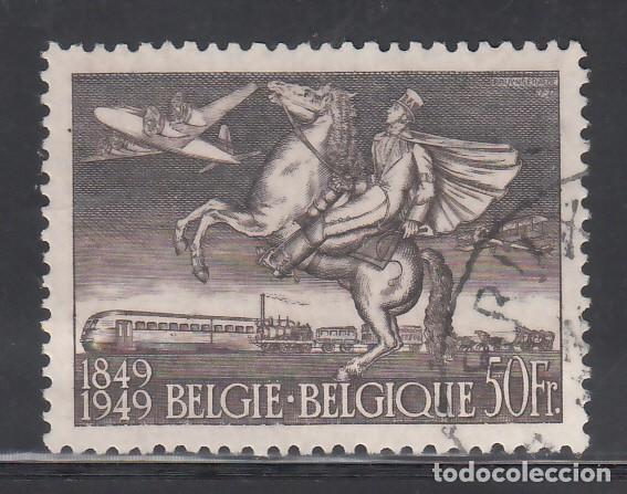 BELGICA, AÉREO 1949 YVERT Nº 24, CENTENARIO DEL SELLO / TRANSPORTE POSTAL (Sellos - Extranjero - Europa - Bélgica)