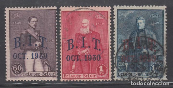 BELGICA, 1930 YVERT Nº 305 / 307, OFICINA INTERNACIONAL DEL TRABAJO. BIT. OCT.1930 (Sellos - Extranjero - Europa - Bélgica)