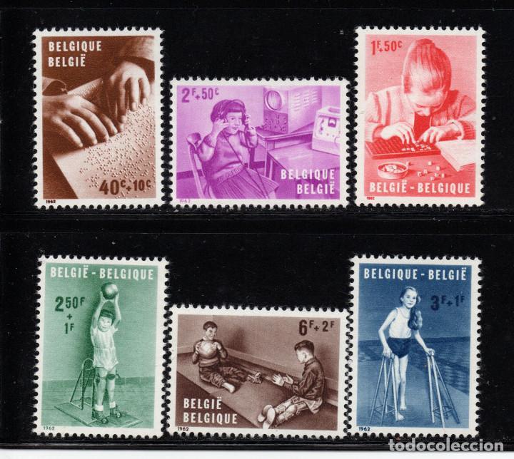 BÉLGICA 1225/30** - AÑO 1962 - PRO INSTALACIONES PARA NIÑOS MINUSVALIDOS (Sellos - Extranjero - Europa - Bélgica)