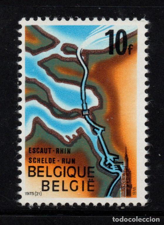 BÉLGICA 1775** - AÑO 1975 - NUEVO CANAL ESCAUT - RIN (Sellos - Extranjero - Europa - Bélgica)