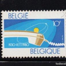 Sellos: BÉLGICA 1968** - AÑO 1980 - 50º ANIVERSARIO DE LA REAL COMPAÑIA DE TELEGRAFOS Y TELEFONOS. Lote 236589305