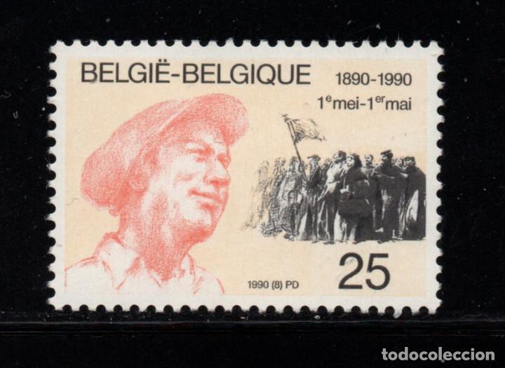 BÉLGICA 2366** - AÑO 1990 - CENTENARIO DEL PRIMERO DE MAYO (Sellos - Extranjero - Europa - Bélgica)